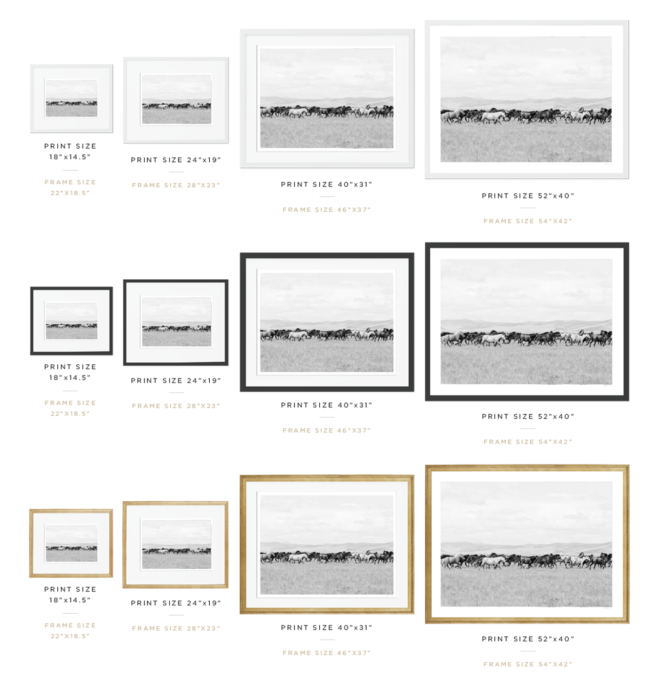 Print Size Guide Ͽ� Esp: KT Merry Fine Art Print Shop